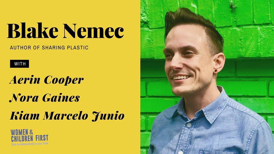 CCC Attends -  Author Reading: Sharing Plastic by blake nemec