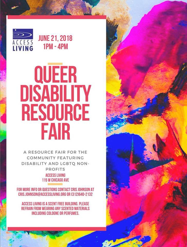 CCC Tables at the Access Living Queer Disability Resource Fair