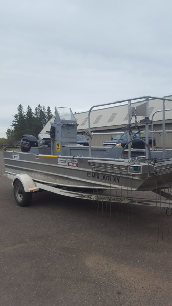This boat is equipped to stun fish so that they may be counted for species and size