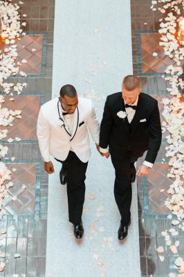 Black tie gay wedding