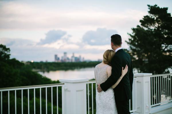 Skyline; Country Club Wedding; Mr & Mrs.