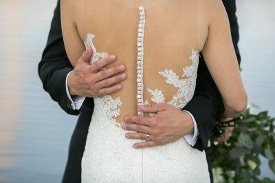 Wedding Dress with dramatic back design