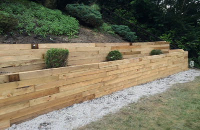 We can also meet your very utilitarian needs - like retaining walls, french drains, roof repair, and more!