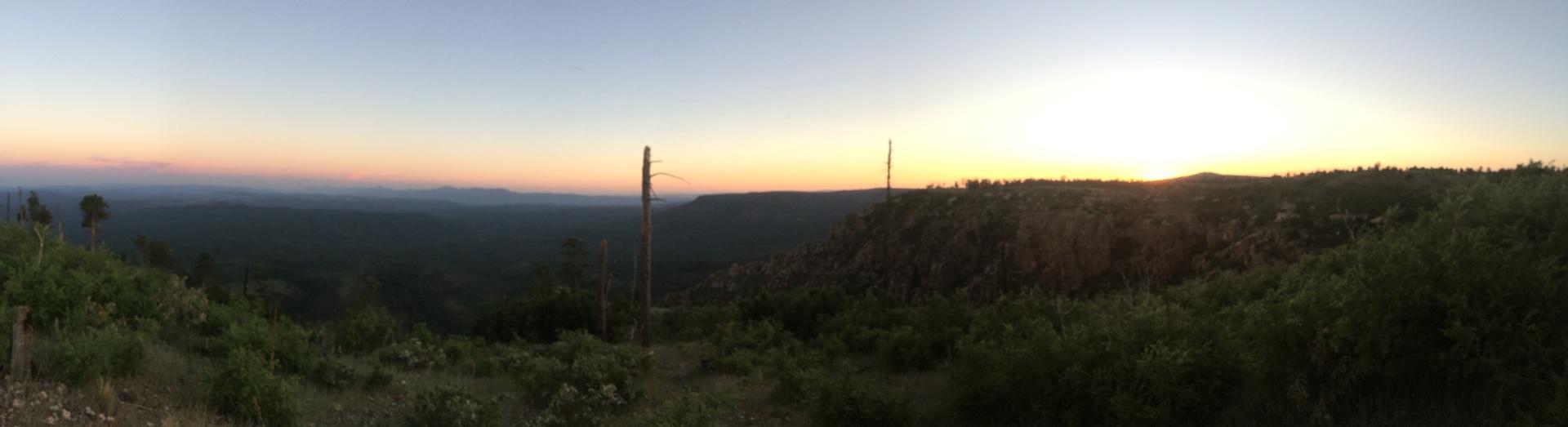 donohue trail mogollon rim hiking
