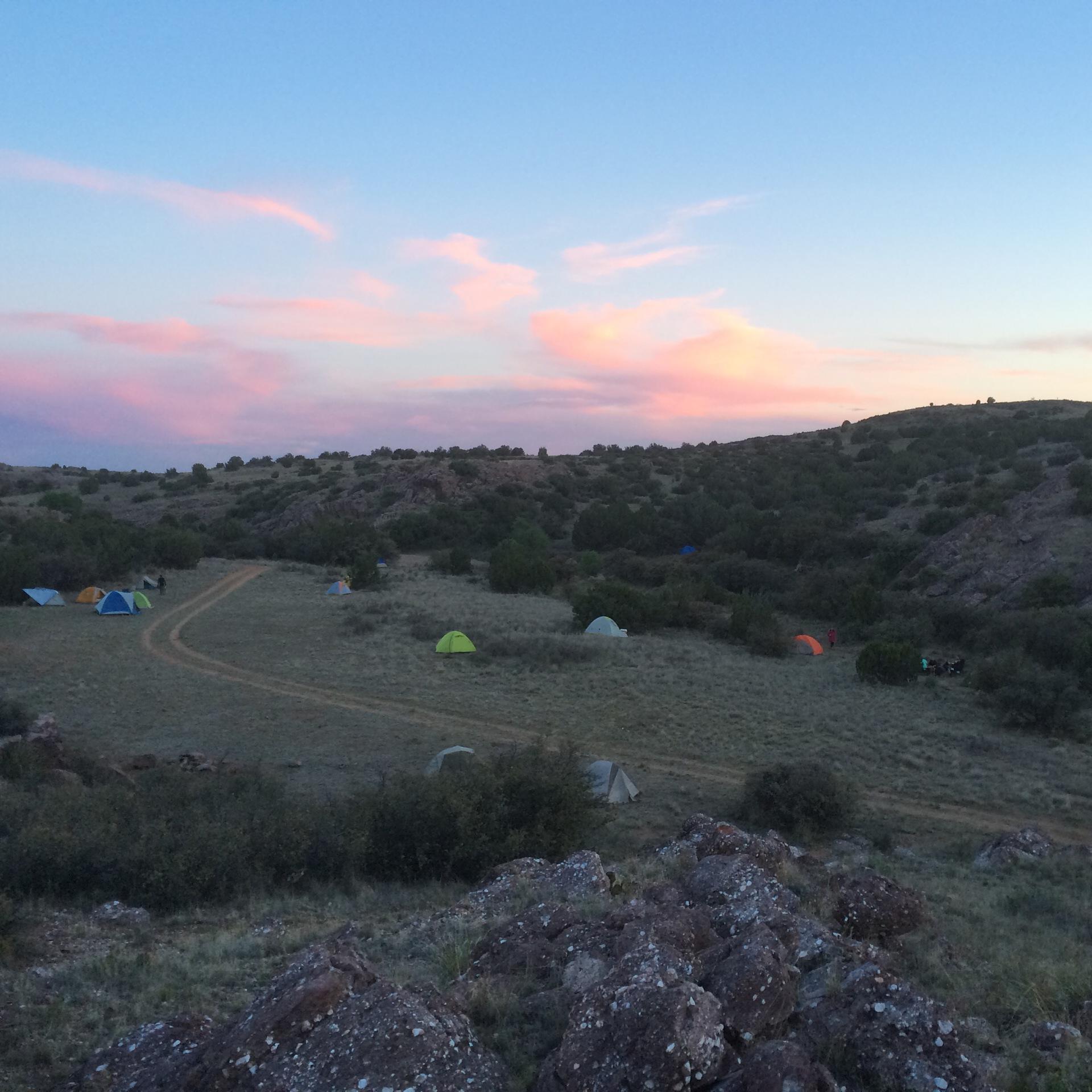 Camping at Granite Creek, Arizona Backpacking