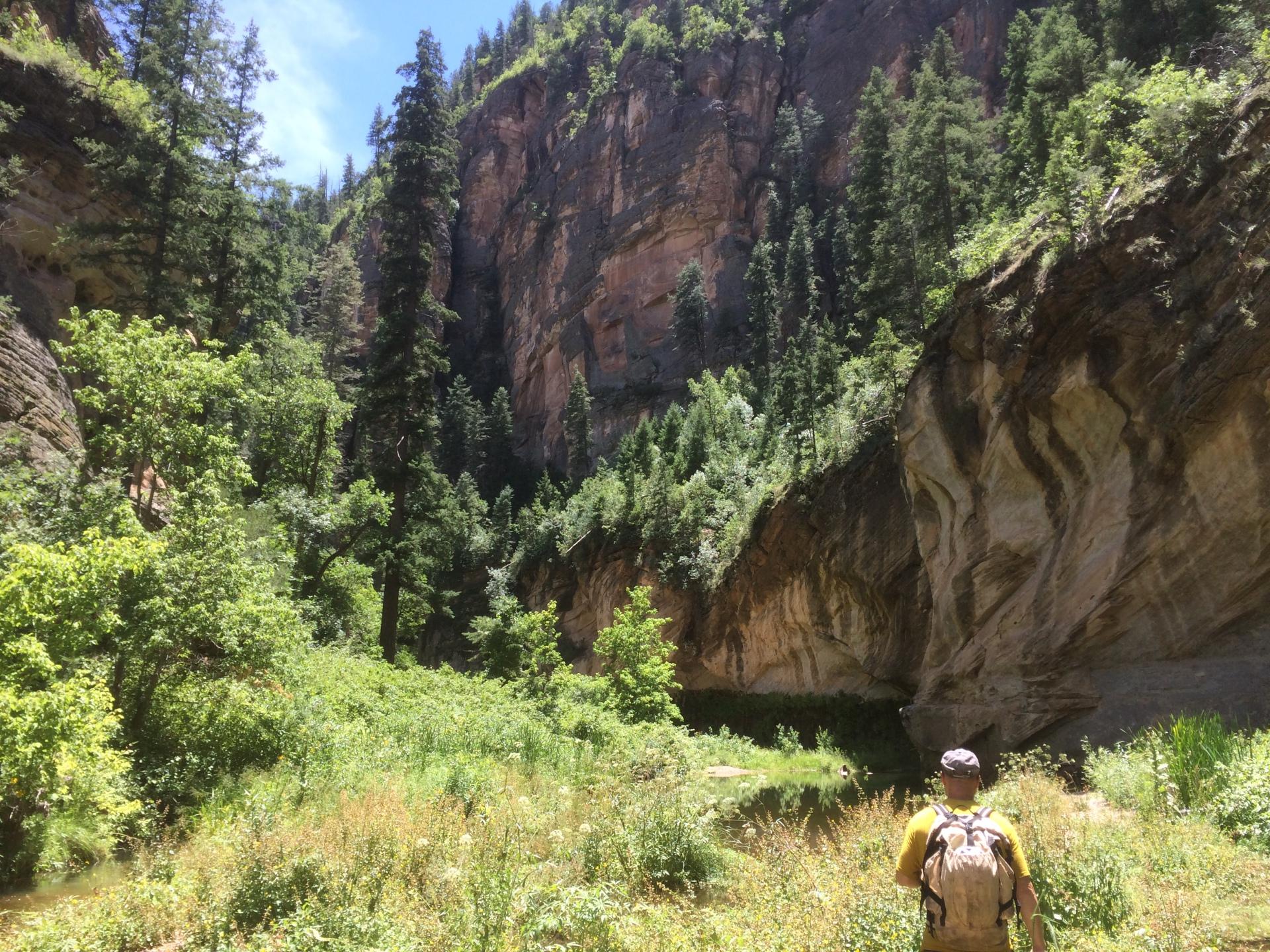 west clear creek mogollon rim hiking