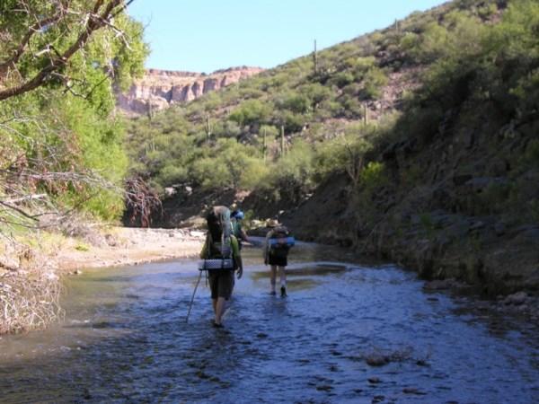 aravaipa canyon hiking and backpacking