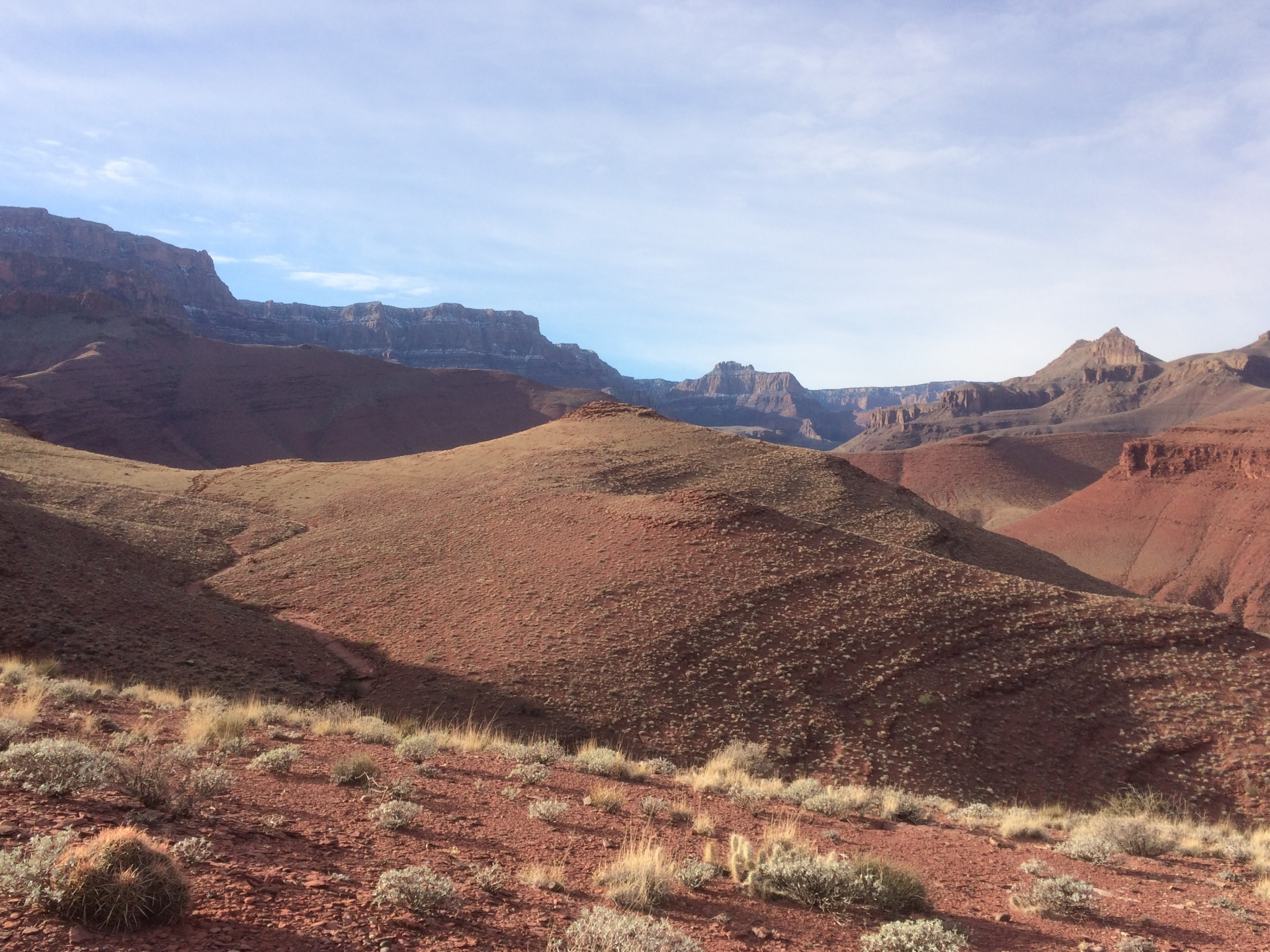 grand canyon south kaibab hiking