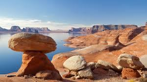 Hoodoos on Lake Powell near West Canyon
