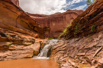 Waterfalls in Coyote Gulch, Grand Staircase