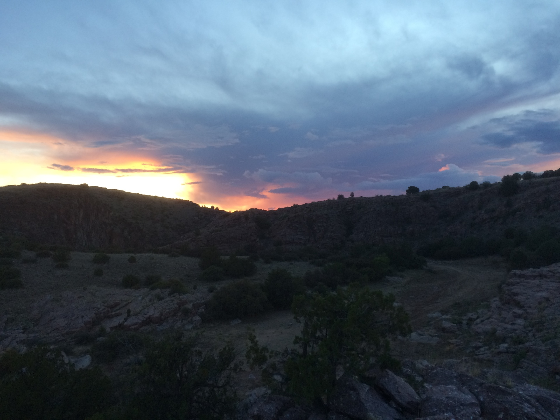 Sunset at Granite Creek, Arizona Backpacking