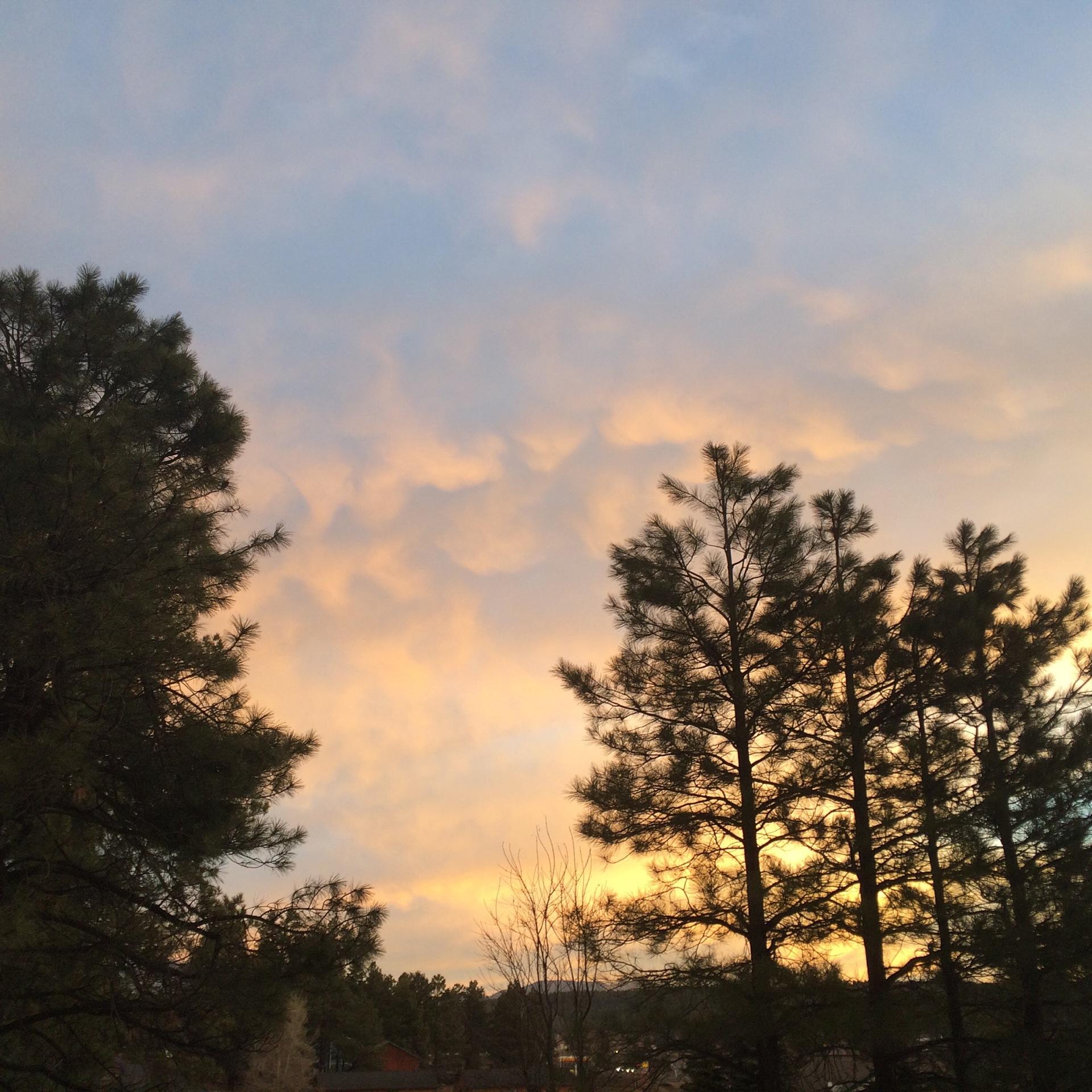 Sunrise at Granite Creek Canyon, Arizona Backpacking