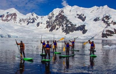 Paddleboarding Antarctica