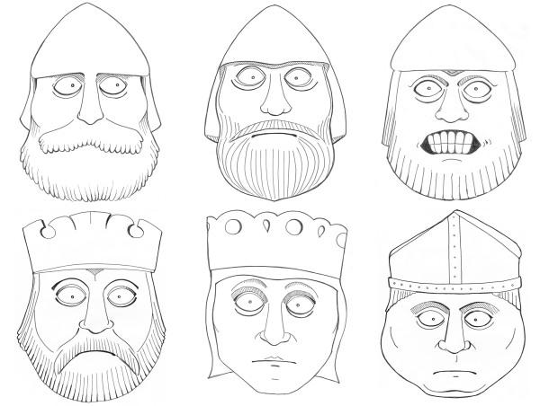 The British Museum: Lewis Chessmen illustrations