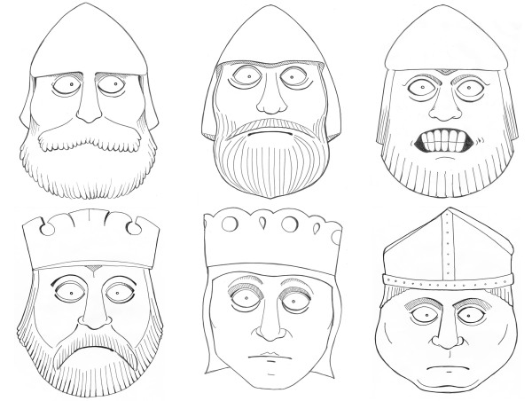 The British Museum: Lewis Chessmen illustrations