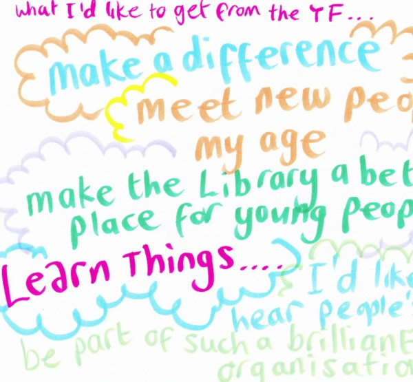 The British Library: 'Live Drawing' during Youth Forum meeting.