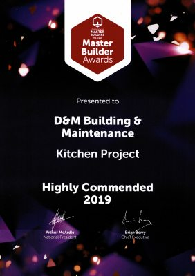 Highly Commended Kitchen Project Award 2019
