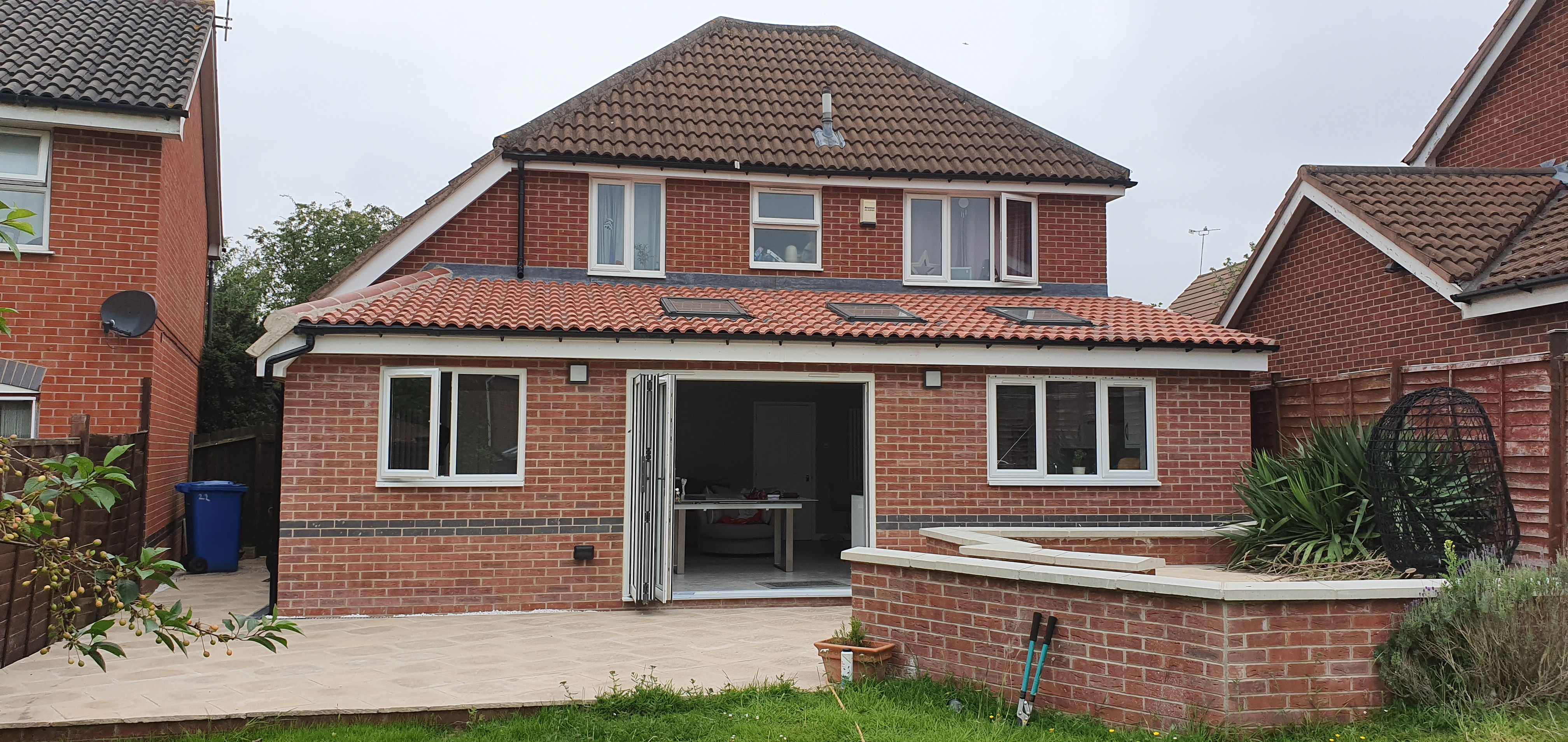 Single storey rear kitchen extension and landscaping
