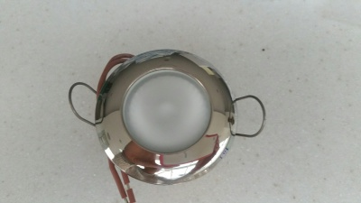 Round chrome light
