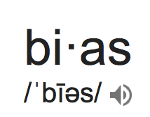 Bias- the word