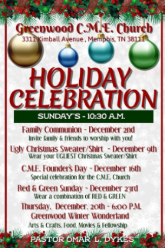 Come and celebrate the Holiday Season with us!