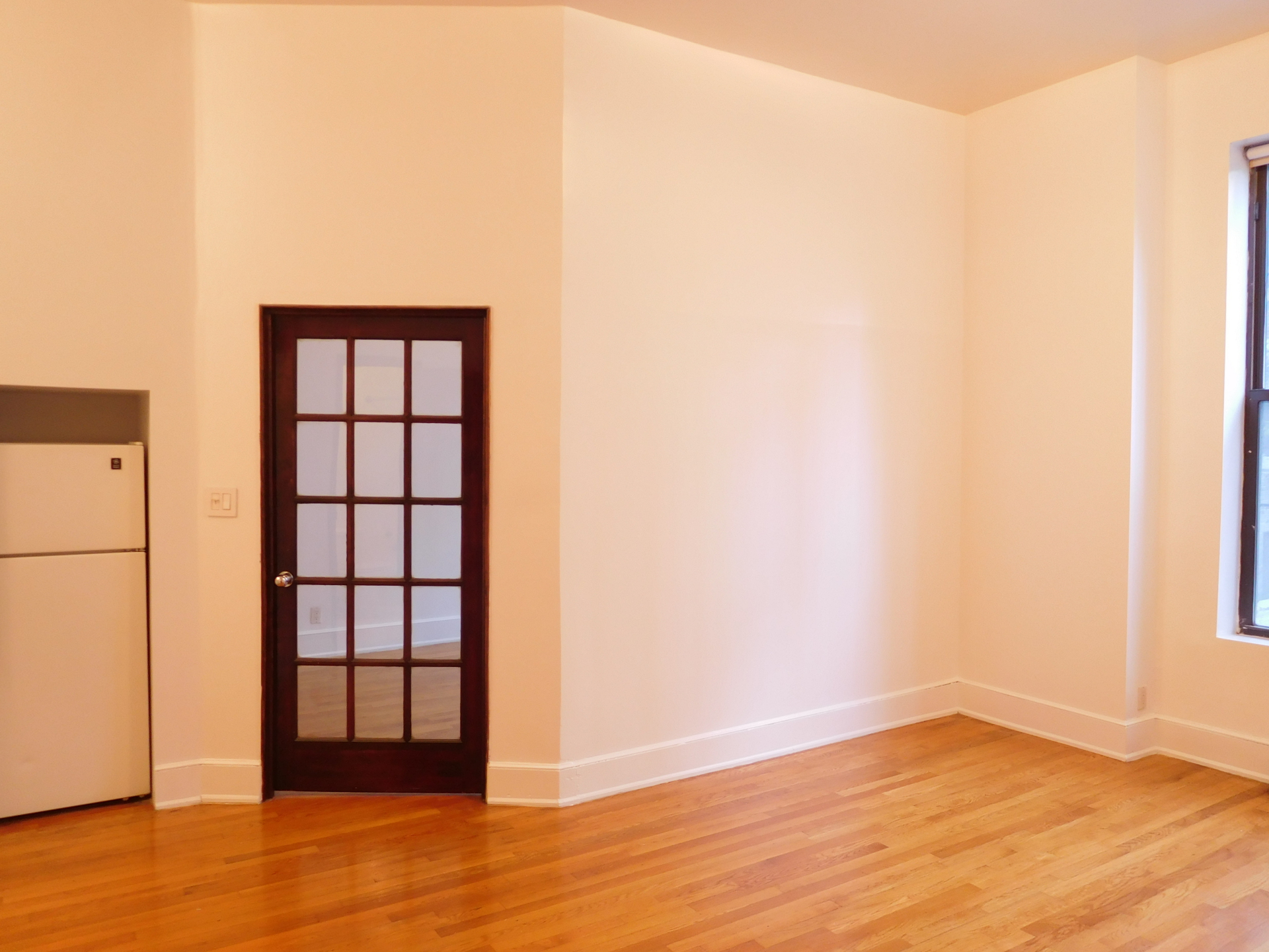 French Door dividing Badroom from Living Room