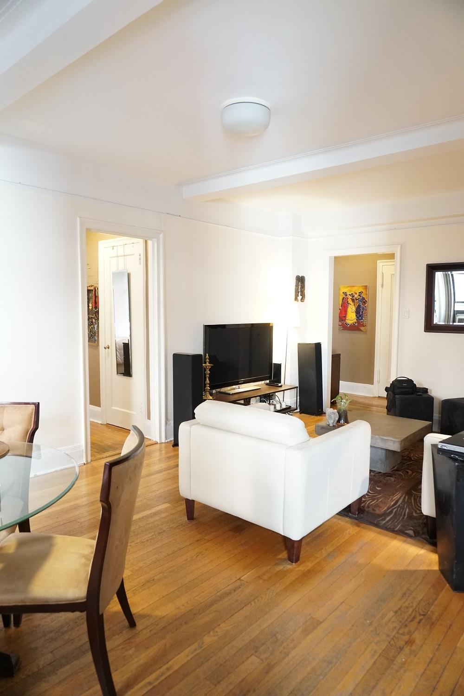 Living Room, Aisle to Bedroom (Left), Foyer (Right)