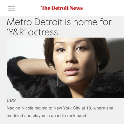 The Detroit News Interviews Nadine