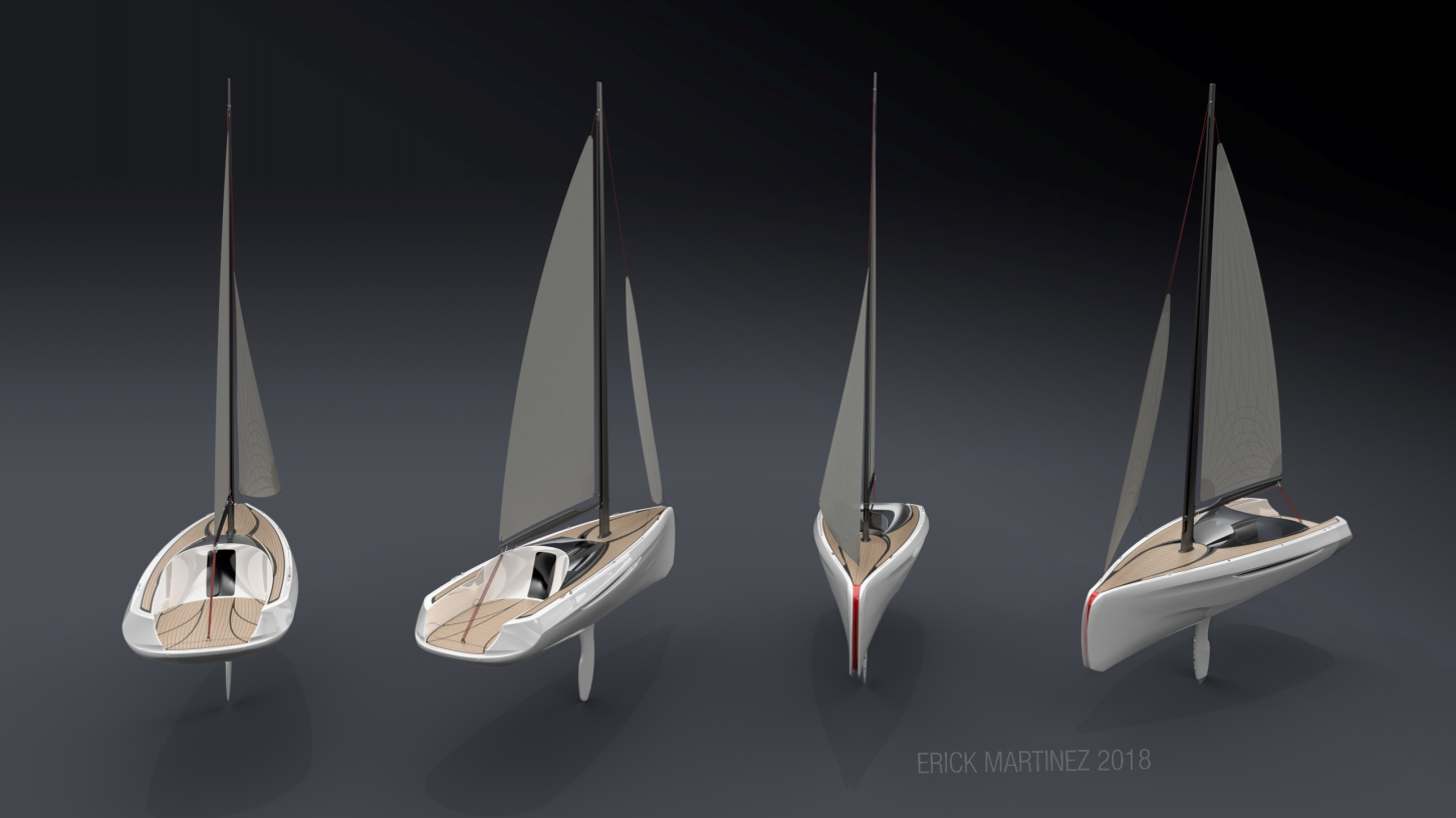 sailboat design, boat design, Industrial design, Product design, creative design, design consultant, transport design, erick martinez, design consultant, visualization consultant, munich,