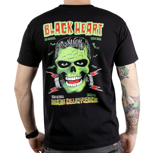 Black Heart Frankie T Shirt (back) £15,00