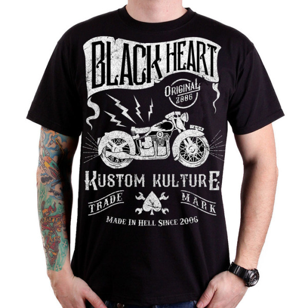 Black Heart Vintage Bike T Shirt £15.00
