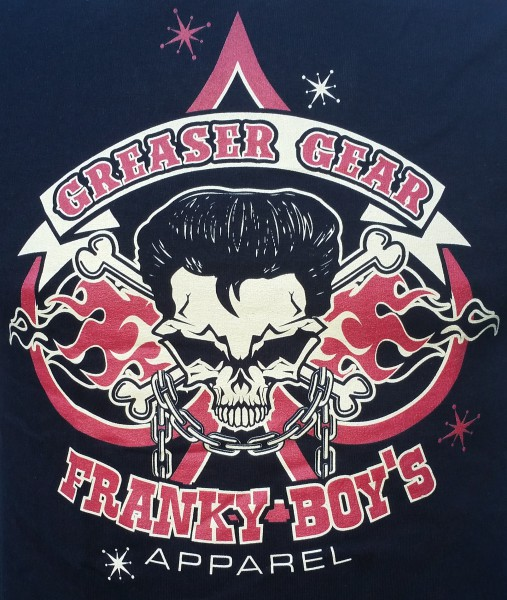 Franky Boy`s Apparel Black Greaser Gear Logo T Shirt £15.00
