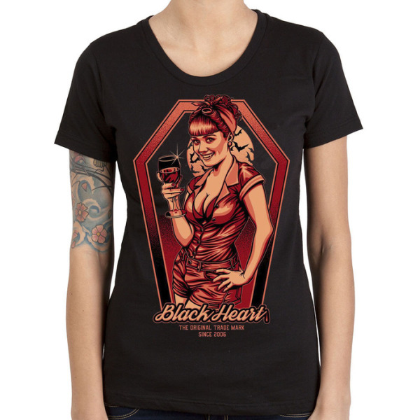 Black Heart Ladies Bloody Bitch T Shirt £15.00