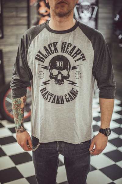 Black Heart Mens Bastard Gang Raglan Long Sleeve T Shirt £17.00