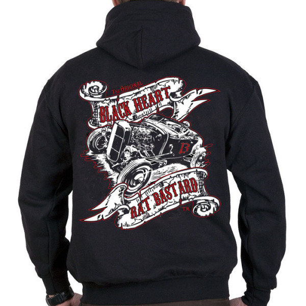 Black Heart Barber Mens Rat Bastard Pull On Hoody £25.00 (back)