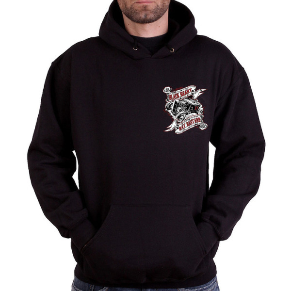 Black Heart Barber Mens Rat Bastard Pull On Hoody £25.00 (front)