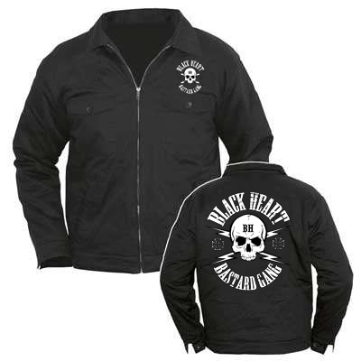 Black Heart Ladies Skull Jacket £47.00 (front & back)