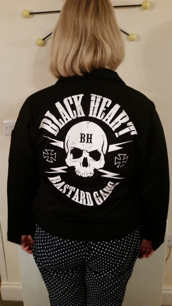 Black Heart Ladies Skull Jacket £47.00 (back)