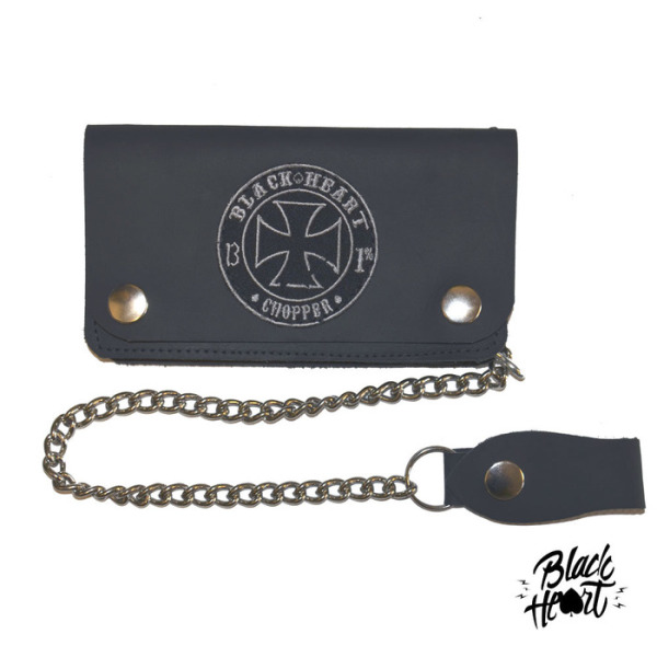 Black Heart Leather Wallet and Chain £30.00