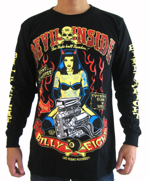 "Billy Eight ""Devil Inside"" Long Sleeve T Shirt"