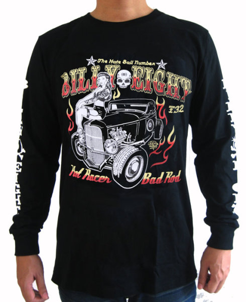 "Billy Eight ""Hot Rod"" Long Sleeve T Shirt"
