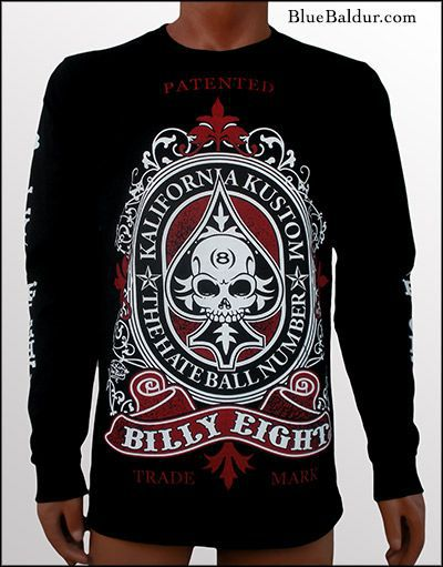 "Billy Eight ""Kalifornia Kustom"" Long Sleeve T Shirt"
