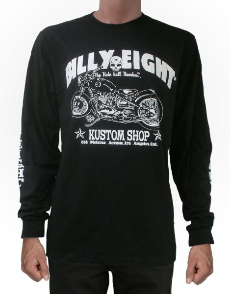 "Billy Eight ""Kustom Shop"" Long Sleeve T Shirt"