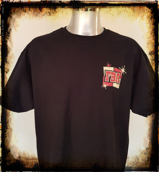Franky Boy`s Apparel Mens Black Rockabilly Style T Shirt (front) £17.00