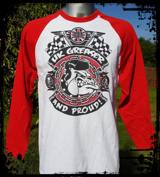 Franky Boy`s Apparel Proud UK Greaser Red Long Sleeve T Shirt £17.00