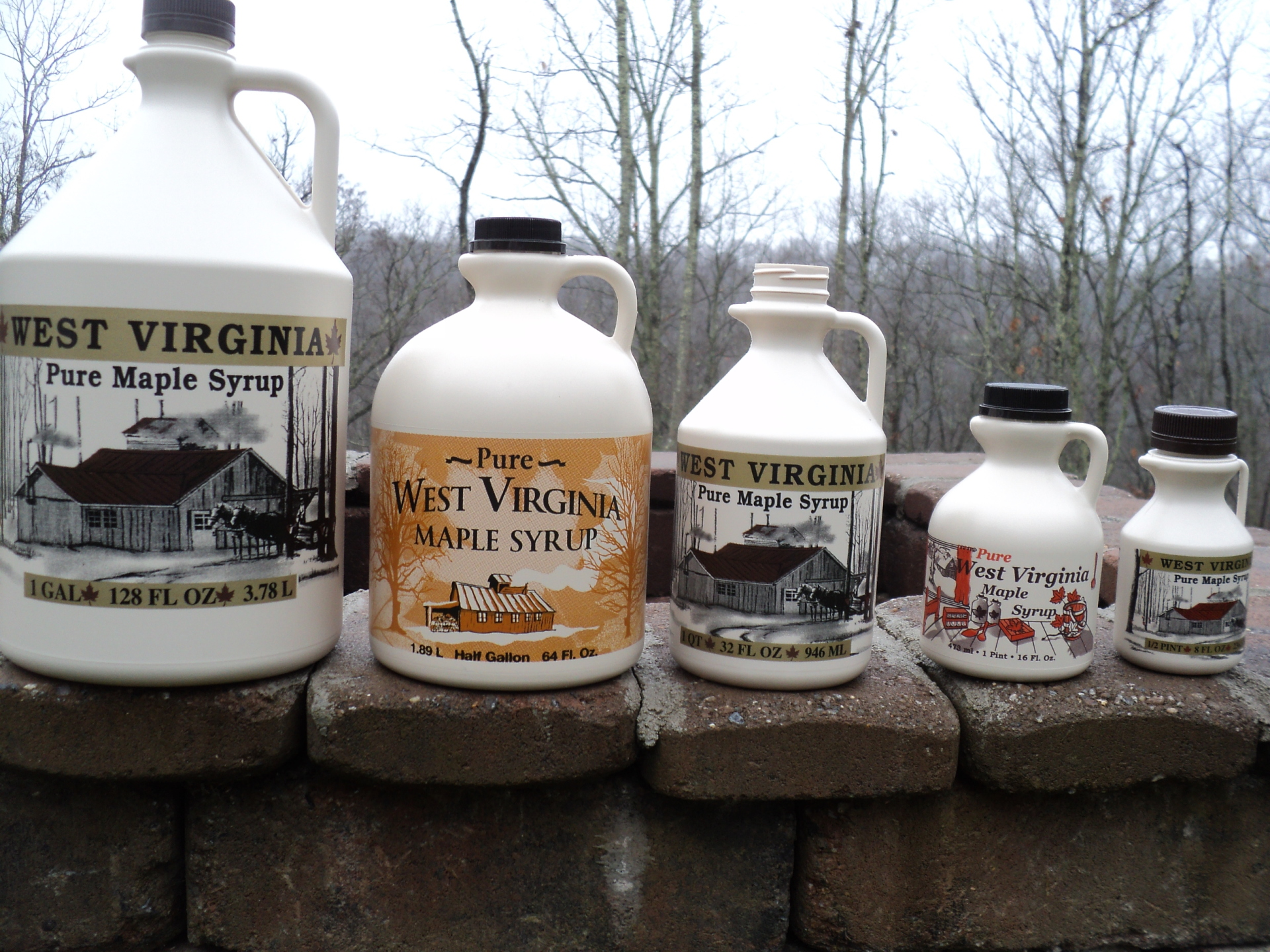 Large selection of every size WV Jugs, Virginia Jugs and Glass Bottles