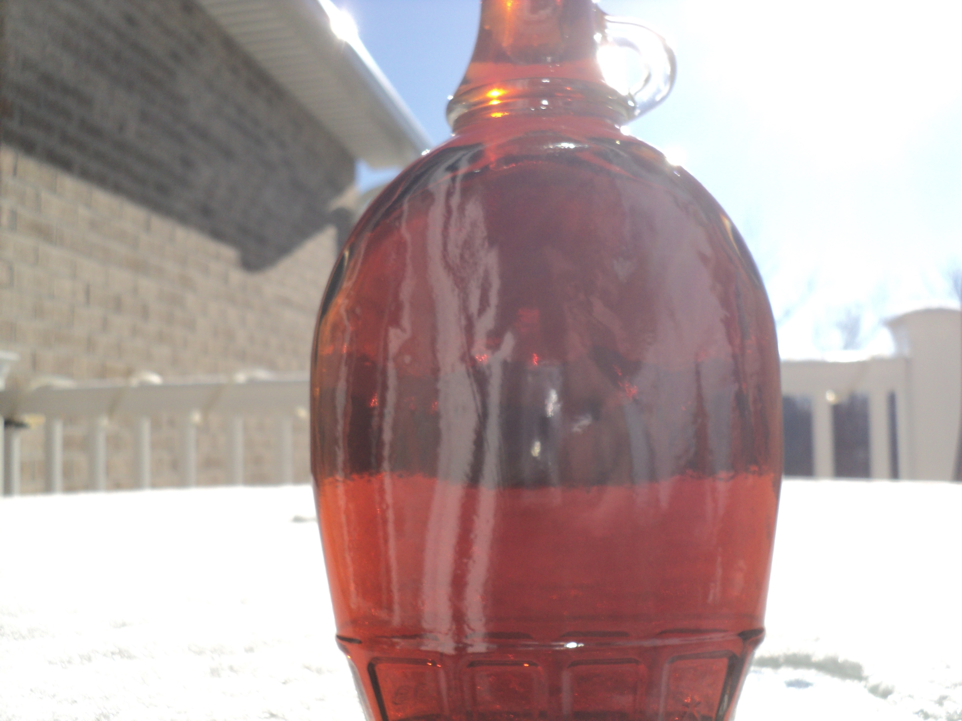 12 Ounce Pure WV Maple Syrup in Glass Flask
