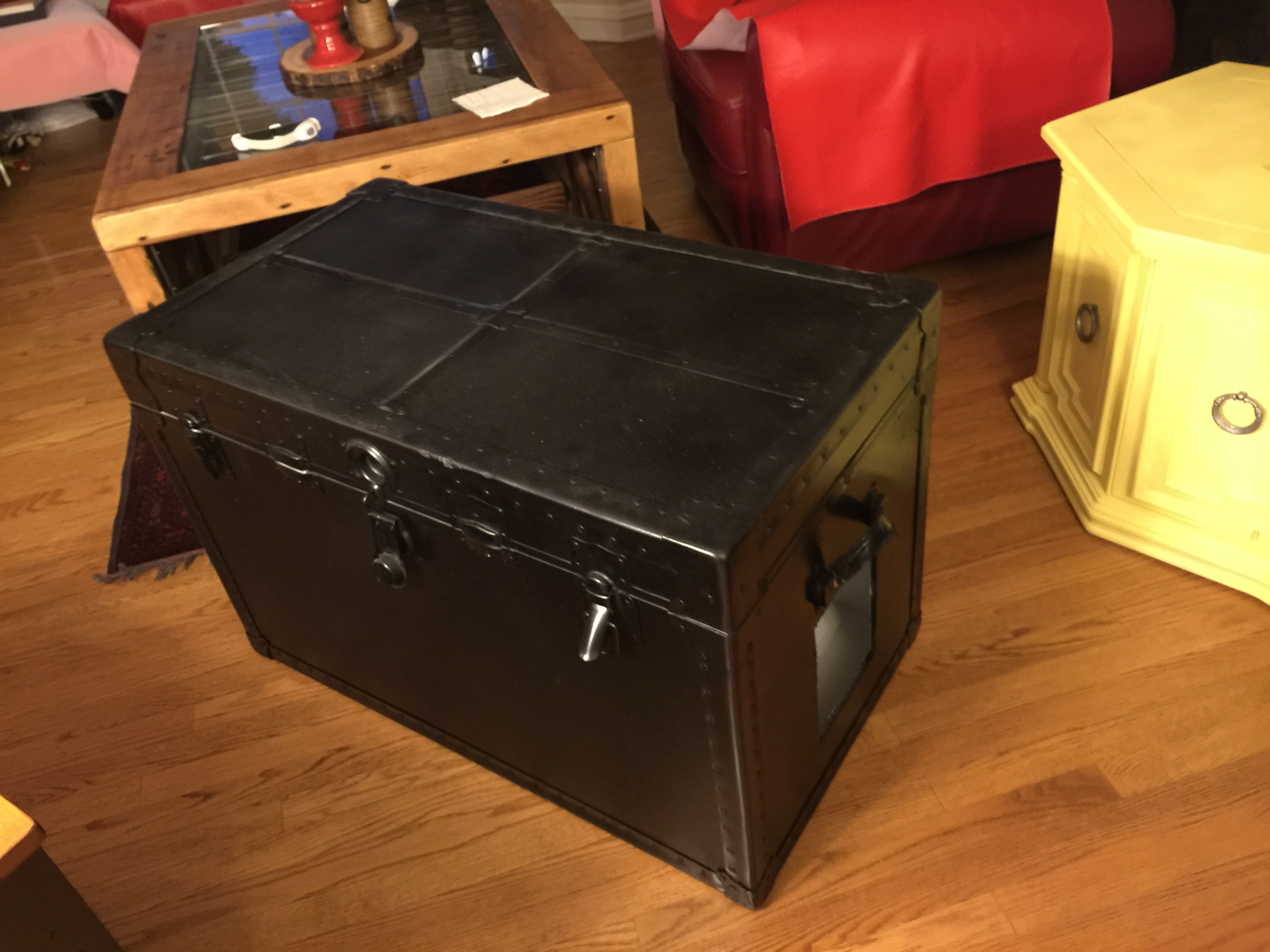 SOLD - Black Trunk