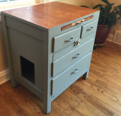 SOLD - Gray/Blue Cabinet