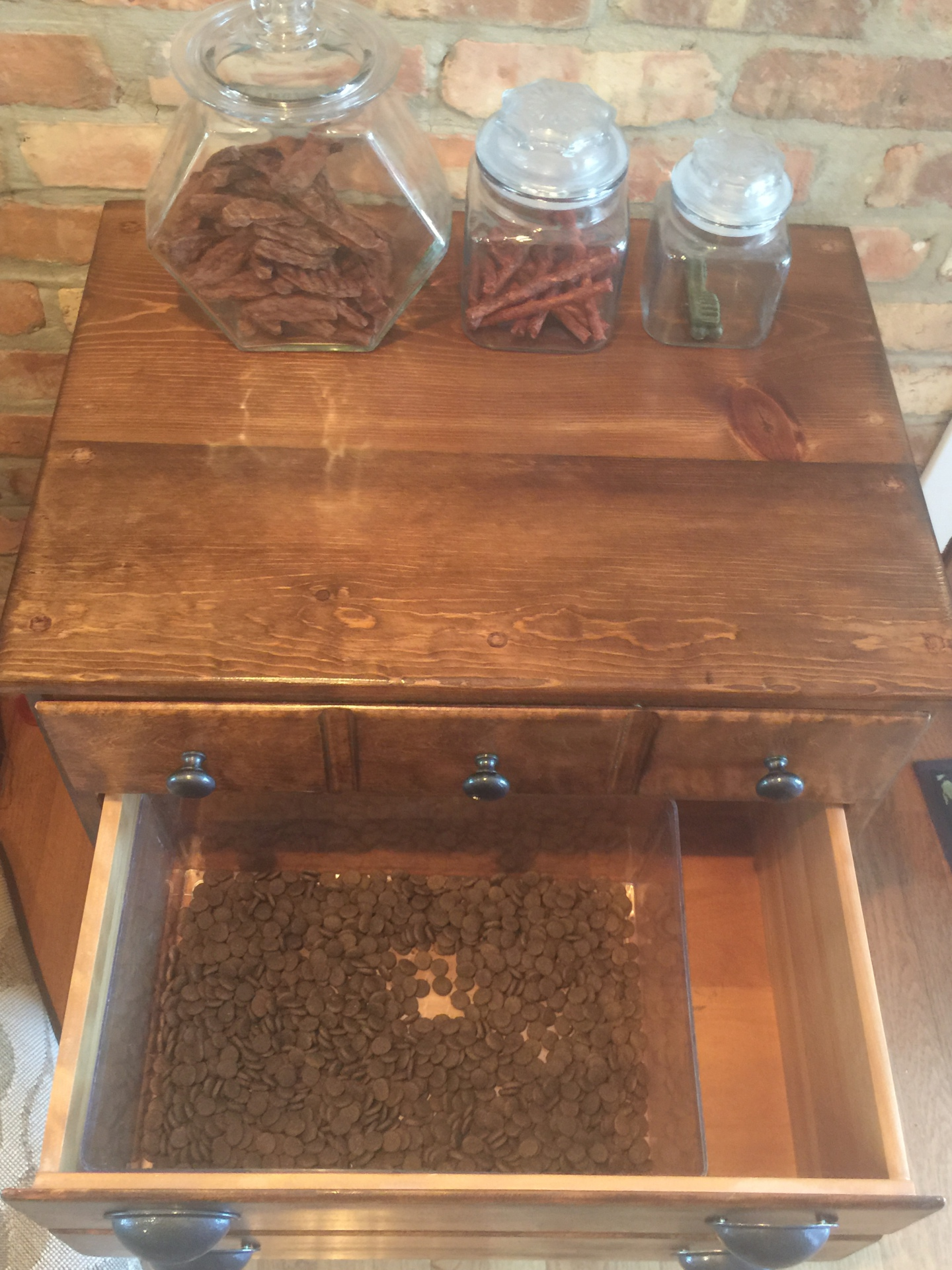 Middle Drawer for Dry Food Storage